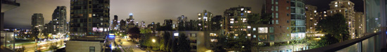 Vancouver By Night Panorama Thumb